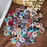 100 stks ronde houten knoppen decoratie naaien knoppen DIY materialen