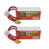 2Pcs ZOP POWER 14.8V 1500mAH 100C 4S Lipo Battery With XT60 Plug For RC Models