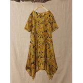 Плиссированная блуза с рукавами 3/4 с цветочным принтом