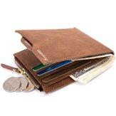 Homens RFID Bloqueando roubo de carteira Proteger dinheiro Bolsa Titular do cartão Embreagem de bolsa fina