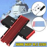 M.2 NVME Aluminum Heatsink NGFF PCI-E 2280 SSD Cooling Fan Fin Cooler W/ Thermal Pad