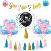 Balões de látex menino ou menina / ele ou ela festa criativa festa do bebê suprimentos decorações do partido