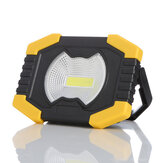 XANES® 20W COB USB Rechargeable Solar LED Work Light Portable Camping Lamp Flood Spot Lamp Hand Light Camping Light