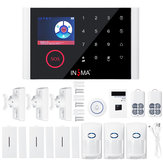 CS108 Wifi+GSM+GPRS Alarm System Intelligent Voice Video Doorbell App Remote Control RFID Card Home Security