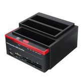 External Triple SATA IDE HDD Docking Station 2.5''/3.5''Hard Drive Enclosure Card Reader USB 3.0