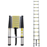 Portable Telescopic Aluminium Ladder 3.8m Foldable Extendable Ladder Multi-Purpose Tools for Home Office Indoors Outdoors