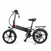 [EUDirect]SAMEBIKE20LVXD3010.4AH48 В 350 Вт Электрический велосипед с мопедом 20-дюймовый E-bike 35 км / ч Максимальная скорость 80 км Пробег Диапа