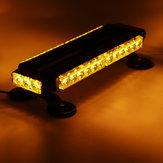 12V 30W Car LED Roof Strobe Light Bar Emergency Signal Warning Flash Amber Magnetic 7 Modes Universal