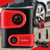 AUDEW 12V DC Coche Neumático Inflador de neumáticos Mini bomba de compresor de aire portátil Bomba de neumáticos automática para Coche Bicicleta Moto SUV y otros inflables
