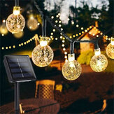 12M 8 modalità 100LED solare String Light Crystal Ball Fairy lampada Matrimonio Holiday Home Party Albero di Natale Decoraions Lights