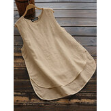 Sleeveless Summer Tank Tops Irregular Camisole Blouse Cami For Women