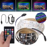 DC12V Waterproof 1M SMD 5050 RGB Music Voice Control 30LED Strip Light Bar backlights for TV