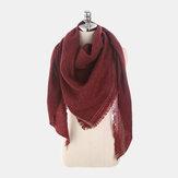 Sciarpe sciarpe a triangolo in cashmere tinta unita New Fashion Season Warm Wild