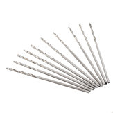 Drillpro 10Pcs 0.4-2.0mm Drill Bit HSS High Speed Steel Straight Shank Twist Drill Bit For Hand Twist Drill