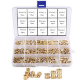 330Pcs Female Thread Knurled Nut M2 M3 M4 M5 Brass Threaded Insert Round Kit