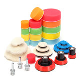 30pcs 1 2 3 Inch Buffer Compound Waxing Polishing Wheel Tool Sponge Pad