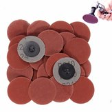 25pcs 2 Polegada 240 Grit Roll Lock Sanding Discs with Holder R-Type Abrasive Tool
