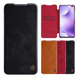NILLKIN Flip Bumper Shockproof with Card Slot Holder Full Cover PU Leather Protective Case for Xiaomi Redmi K30 / Xiaomi Redmi K30 5G Non-original