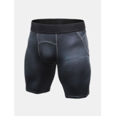 Mens 3D Printed Elastic Fast Dry Fitness Training Shorts