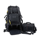 Flying Leaf FL-303D Shockproof Water-resistant Camera Bag Backpack for Canon for Nikon DLSR Camera Tripod Lens Flash