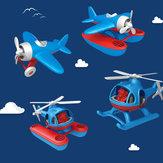 Brinquedo plano de quatro modelos da série Bravokids Super Plane