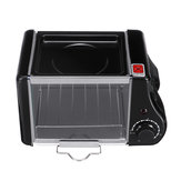 1.5L Electric Mini Oven Toaster Bread Baking Frying Pan Eggs Omelette Kitchen