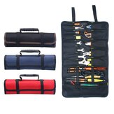 Reel Kit Electrician Tool Bag Canvas Oxford Cloth Kit Multi functional Thickening Bag Roll Tool Kit