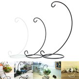Iron Candle Holder Candlestick Glass Ball Metal Lantern Hanging Stand Home Decorations