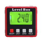 Digital LCD Protractor Gauge Angle Finder Bevel Laser Level Box Inclinometer Meter