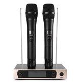 System mikrofonów bezprzewodowych UHF Wyświetlacz LCD Podwójny mikrofon ręczny Mikrofony bezprzewodowe KTV Party