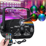 60 patronen RGB laserlicht DJ-projector LED Stage Effect Lighting Spraakbesturing