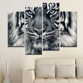 Miico handgeschilderde decoratieve schilderijen met vier combinaties Tiger Head Wall Art For Home Decoration