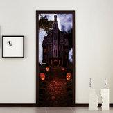 Miico MT002 Halloween Sticker Deur Sticker Creatieve verwijderbare muursticker - Papaya Castle