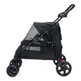 Składany wózek dziecięcy Czterokołowy wózek dla kota Wózek dla psa Outdoor Travel Puppy Trolley