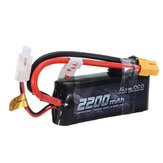 GENSACE ACE 2200mAh 50C 7.4V 2S1P लाइपो बैटरी XT60 / T Plug सभी Trx4 के लिए 1/16 VXL वाहन मॉडल 19 * 34 * 86 मिमी