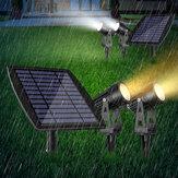 2 em 1 luz de inundação solar ao ar livre jardim gramado paisagem LED holofote caminho lâmpada IP65