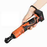 Cordless 3/8Inch Electric Ratchet Wrench Set Right Angle Wrench Power Ratchet Tool w/ 2 8000mAh Lithium-Ion Batteries