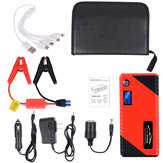JX31 Display 98600mAh 12V Car Jump Starter Portable USB Emergency Power Bank Battery Booster Clamp 1000A DC Port Red
