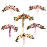 الزهور الاصطناعية جارلاند الأوروبي عتب جدار زهرة الباب اكليلا لحضور حفل زفاف ديكور المنزل لوازم عيد الميلاد