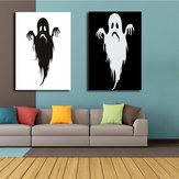 Miico Handgeschilderde combinatie Decoratieve schilderijen Halloween Ghost Wall Art voor huisdecoratie