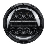 2Pcs 7'' Round LED Projection Headlights Head Lamp Hi/Low Beam For Jeep Wrangler