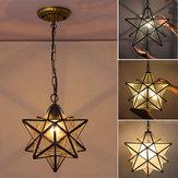 Moravian Star Glass Pingente Lustre de luz Luz Modern Ceiling Lamp Fixture Decor