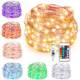 7M 10M USB Silver Wire RGB DIY LED String Fairy Light Christmas Decor With 24 Keys Remote Control