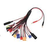 20-в-1 многофункциональный кабель зарядного устройства 4 мм Banana Pklug для XT60 XT90 EC3 EC5 Tamiya для B6 B6AC PL6 PL8 зарядное устройство
