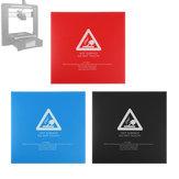 Film chaud de plate-forme d'autocollant de surface de lit noir / bleu / rouge 214x214mm pour l'imprimante 3D