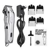 Kemei KM-1993 Professional LED Электрический Волосы Триммер Аккумуляторная аккумуляторная Бесшумный Машинка для стрижки с 4 концевыми гребнями