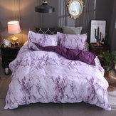 260 * 230cm 3 pezzi biancheria da letto set da letto in marmo di poliestere copripiumino trapunta federa decor