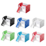 Dual Layer Ladder Hamster House Small Animal Pet Mouse Cage Castle Exercise Toys