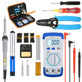 60W Soldering Iron Kit Tips Electronic Welding Tool Adjustable Temperature Case