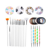 34Pcs Гель Ногти Art Дизайн Set Dotting Painting Drawing Polish Щетка Ручка Инструмент Набор